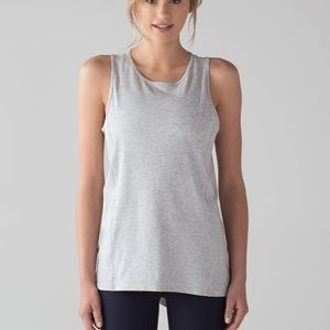 Lululemon low key tank in heathered vapor